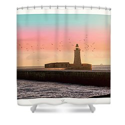 St. Elmo Breakwater Footbridge Shower Curtain