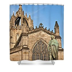 St Giles Cathedral  Edinburgh Shower Curtain by Liz Leyden