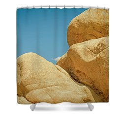 Stacked Boulders Joshua Tree Shower Curtain