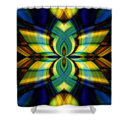 Stained Glass Shower Curtain by Cherie Duran