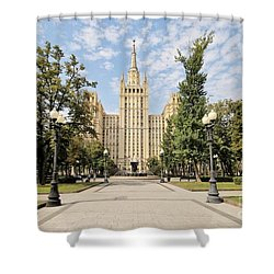 Kudrinskaya Square Shower Curtain