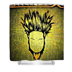 Static-x Shower Curtain by Kyle West