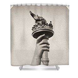 Statue Of Liberty, 1876 Shower Curtain by Granger
