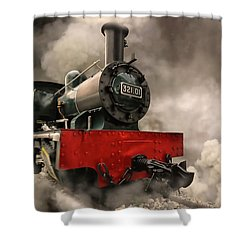 Shower Curtain featuring the photograph Steam Engine by Charuhas Images