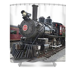 Steam Engline Number 349 Shower Curtain