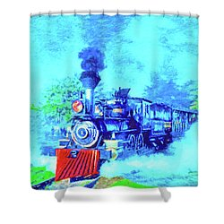 Edison Locomotive Shower Curtain by Dennis Cox