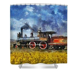 Shower Curtain featuring the photograph Steam Locomotive by Ian Mitchell