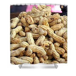 Steamed Peanuts Shower Curtain by Yali Shi