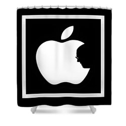 Steve Jobs Apple Shower Curtain by Rob Hans