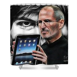 Steve Jobs Collection Shower Curtain