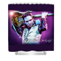 Stevie Ray Vaughan - Love Struck Baby Shower Curtain