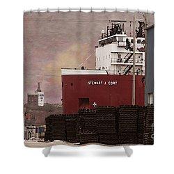 Stewart J Cort Shower Curtain by David Blank