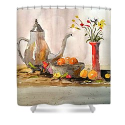 Still Life Shower Curtain by Larry Hamilton