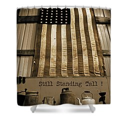 Still Standing Tall Shower Curtain by Joanne Coyle