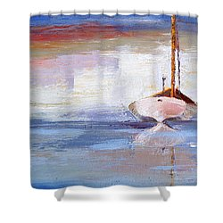 Stillness Shower Curtain by Trina Teele