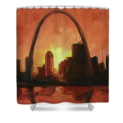 St.louis Downtown - Sunset Shower Curtain