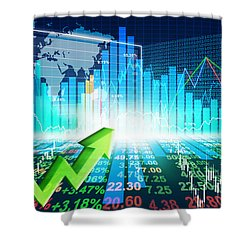 Stock Market Concept Shower Curtain