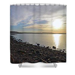 Stone Beach Shower Curtain