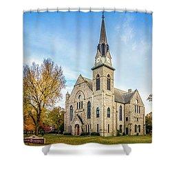 Stone Chapel Fall Shower Curtain