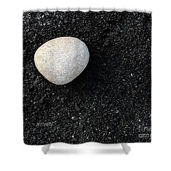 Stone In Soot Shower Curtain