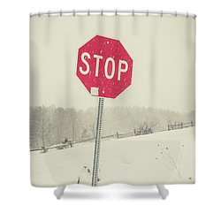 Shower Curtain featuring the photograph Stop by Edward Fielding