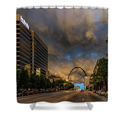 Storm  Clouds Over St Louis Shower Curtain by Garry McMichael