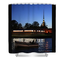 St.petersburg At Night Shower Curtain