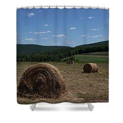 Straw Bales Shower Curtain