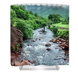 Shower Curtain featuring the photograph Stream by Charuhas Images