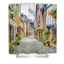 Streets Of Dinan Shower Curtain by JR Photography