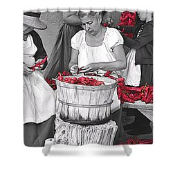 Stringing Ristras Shower Curtain