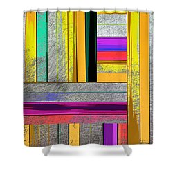 Stripes - Abstract Art Shower Curtain
