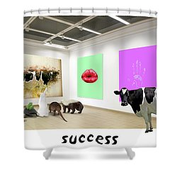 Shower Curtain featuring the photograph Success by James Bethanis