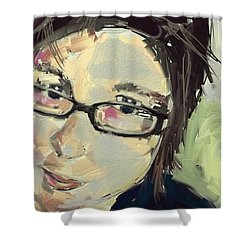 Sue Shower Curtain by Jim Vance