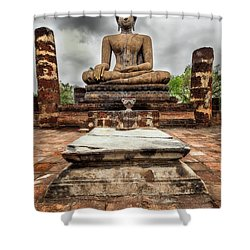 Shower Curtain featuring the photograph Sukhothai Historical Park by Adrian Evans