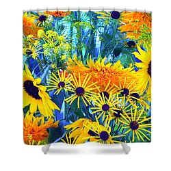 Shower Curtain featuring the photograph Summer Bouquet by Byron Varvarigos
