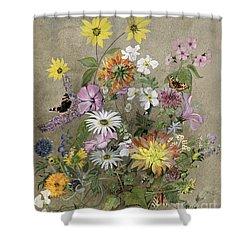 Summer Flowers Shower Curtain by John Gubbins