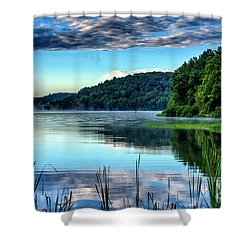 Summer Morning On The Lake Shower Curtain