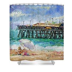Shower Curtain featuring the painting Summer Sun by Jennifer Beaudet