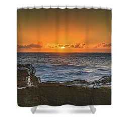 Sun Rising Over The Sea Shower Curtain