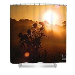 Shower Curtain featuring the photograph Sun Up by Gary Bridger
