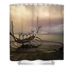 Sun Voyager Shower Curtain by Allen Biedrzycki
