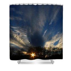 Sundown Skies Shower Curtain