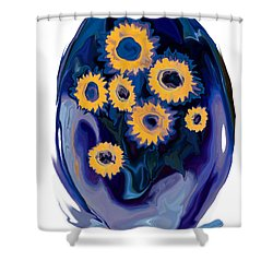Shower Curtain featuring the digital art Sunflower 1 by Rabi Khan