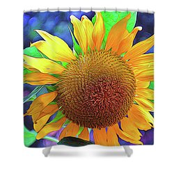 Shower Curtain featuring the photograph Sunflower by Allen Beatty