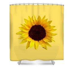 Sunflower Shower Curtain by Jim Sauchyn