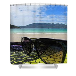 Sunglasses Shower Curtain