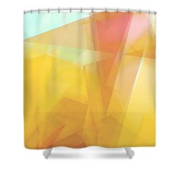 Sunny Side Up - Abstract Art Shower Curtain
