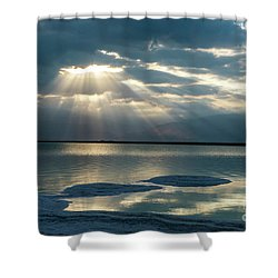 Sunrise At The Dead Sea Shower Curtain