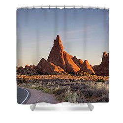 Sunrise In Arches National Park Shower Curtain